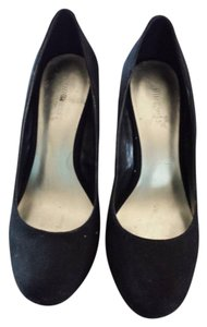 Nine West Wedge Slip On Black Pumps