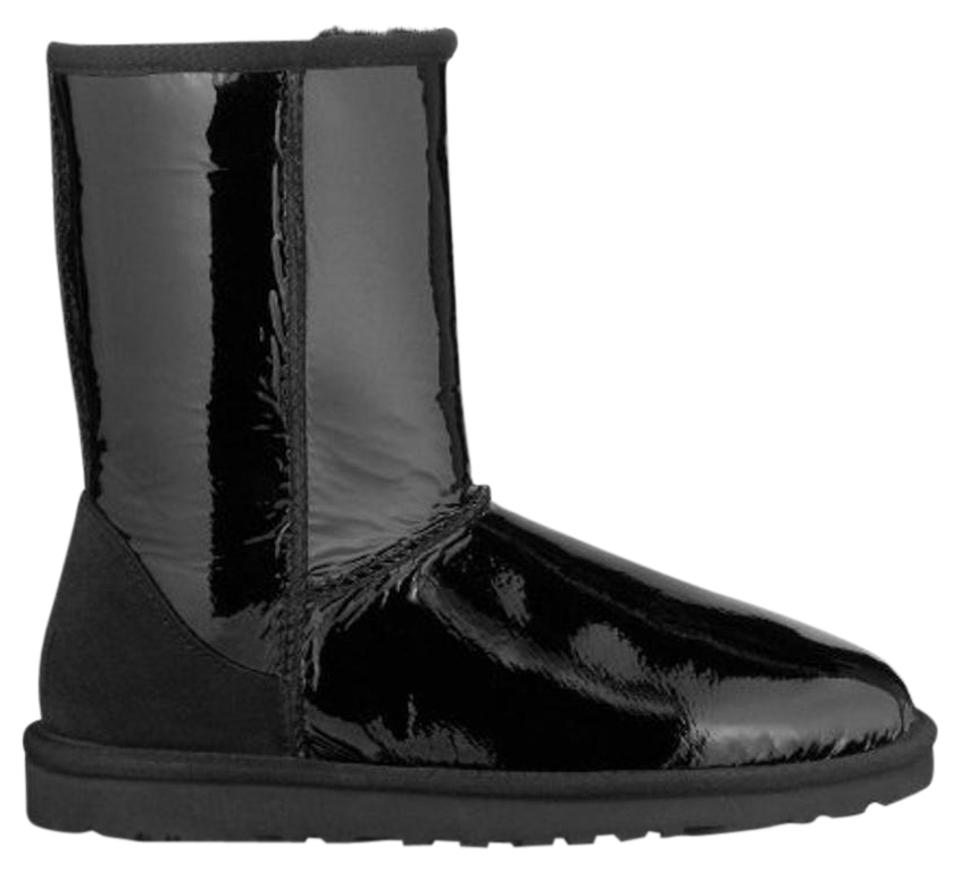 69be8d17f0f UGG Australia Black Classic Short Patent Leather Boots/Booties Size US 8  Regular (M, B) 70% off retail