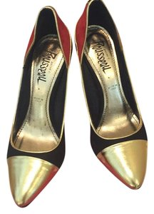 Jerome C. Rousseau Multi- gold/black/orange- purple hills Pumps