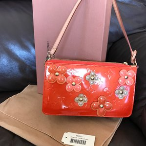 Louis Vuitton Lexington Fleurs Pochette Limited Edition Satchel in Orange