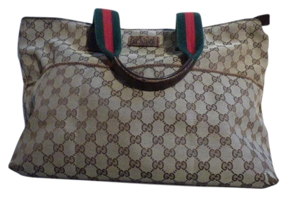 b9ff0414d9b Gucci Extra Large Size Satchel Or Multi-compartment Perfect For Travel Very Good  Vintage Tote ...