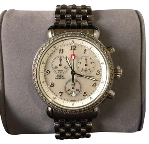 Michele Michele CSX watch with diamonds around case
