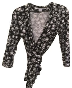 Diane von Furstenberg Top Black, white and grey