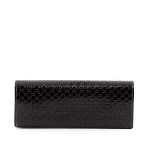 60f3ecd0c53 Gucci Broadway Patent Microguccissima Medium Black Leather Clutch ...