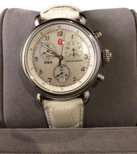 Michele Michele CSX Chronograph with White Leather Band