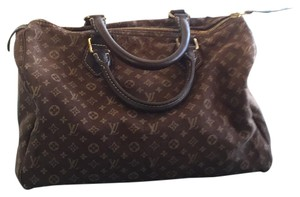 Louis Vuitton Min Lin Satchel in Brown