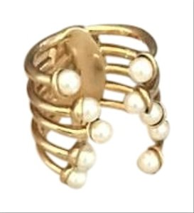 Dior Dior Mis En Dior Tribal Pearl Row Gold Tone Ring
