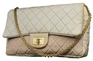 Chanel Pink Yellow Blue Jumbo Shoulder Bag