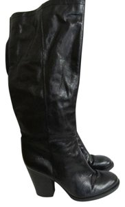 Tahari Leather Black Boots