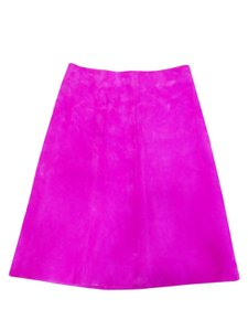 Dior Suede Skirt Hot Pink