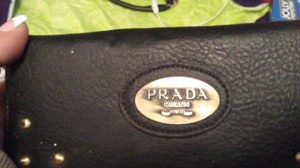Prada Prada Black Leather Wallet