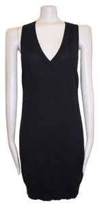 AllSaints short dress BLACK Sweater Stretch on Tradesy