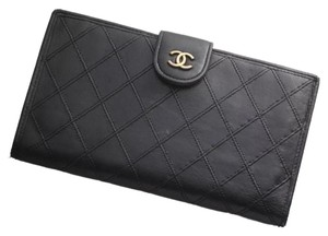 Chanel Chanel Black Logo Wallet