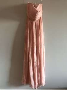 J.Crew Misty Rose / Blush Marbella Long Dress In Silk Chiffon Dress