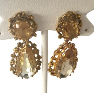Other Gorgeous Must See-14k Gold Citrine Earrings