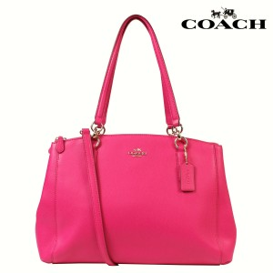 Coach Leather Christie Tote in Pink