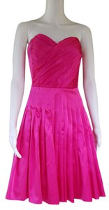 Betsey Johnson Party Silk Strapless Boned Dress