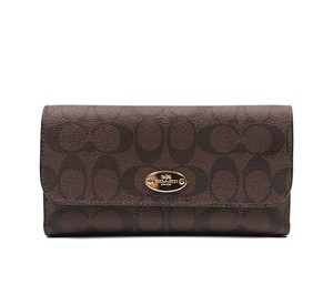 Coach Coach Signature Checkbook Wallet