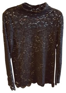 BCBGMAXAZRIA Dolce Gabbana Louis Vuitton Bcbg Lace Top Black