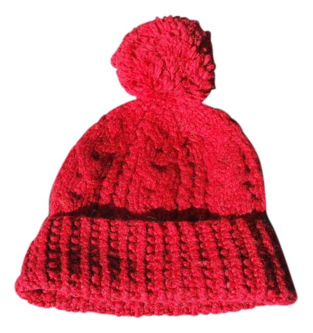 Item - Red 40% Lamb's Wool Cable Knit A&f Rate Hat