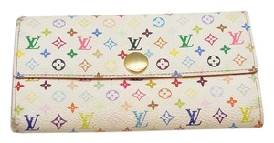 Louis Vuitton Multicolor Sarah Wallet Blanc White