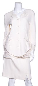 Chado Ralph Rucci Ralph Rucci Ivory Skirt Suit