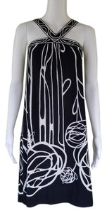 BCBGMAXAZRIA short dress Black White Slinky Shift Print on Tradesy