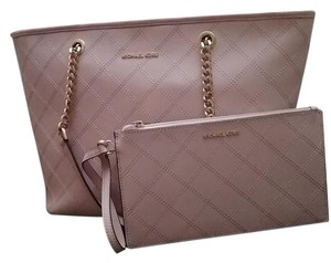 Michael Kors Quiltedleather Tote in Pink blossom