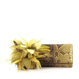 Gucci Python Yellow Clutch