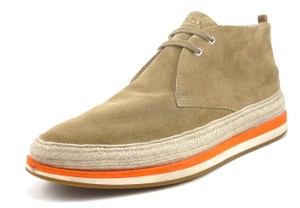 Prada Men's Suede Chukka Double Sole Ankle Boots