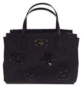 Kate Spade Embellished Beaded Satchel in Black