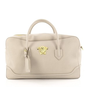 Versace Leather Satchel in Beige