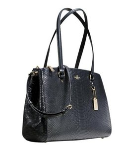 Coach F36879 Midnight Embossed Leather Shoulder Bag
