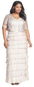 Adrianna Papell 14w Embellished Tiered Gown Dress