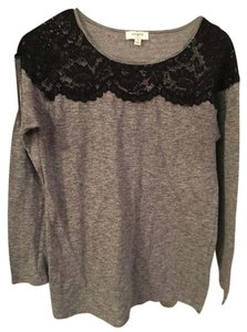 Umgee And Black Shirt Black Lace Long-sleeve Black Top Grey