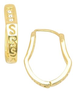 Other NYE S Curve Abstract Golden 18KT Gold Filled Hoops Earrings