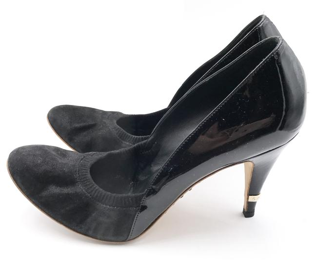 Item - Black Patent Suede Leather High Heel Sandals Size EU 38.5 (Approx. US 8.5) Wide (C, D)