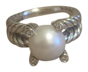 David Yurman David Yurman Pearl & Diamond Ring Size 8