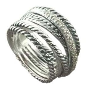 David Yurman David Yurman Crossover Wide Ring Size 8
