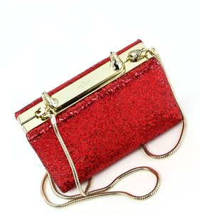Kate Spade * PLACE YOUR BETS GLITTER RAVI HORN CLUTCH