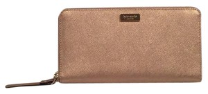 Kate Spade Nwt Kate Spade NY Neda Newbury Lane Rose Gold Saffiano Leather Wallet