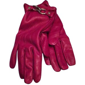 Lambertson Truex Magenta Italian Leather Gloves