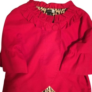 Saks Fifth Avenue Red with animal print lining Jacket