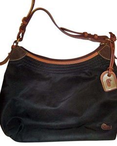 Dooney & Bourke Leather Straps Satchel in Black