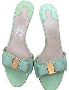 Salvatore Ferragamo Light Green Sandals