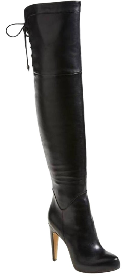 Sam Edelman Leather Black Kayla Leather Edelman Thigh High Boots/Booties 366ce1