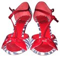 Moschino Red . Black And White Sandals Image 0