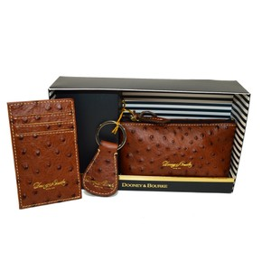 Dooney & Bourke Ostrich emb Leather 3pc Gift Set