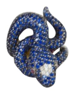 Other SILVER PLATED BLUE STONE SNAKE DESIGN SIZE 8 ON SALE DF