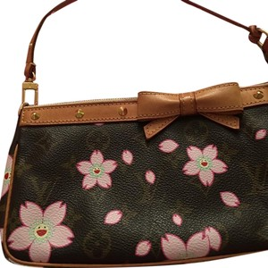 Louis Vuitton Brown Pink Clutch